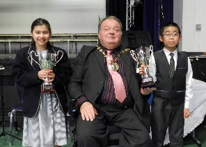 Faye, Harvey And The Mayor Of Basingstoke