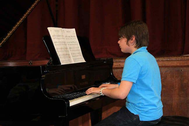 Thomas Bennett Playing Piano