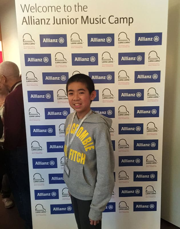 Harvey At Allianz Junior Music Camp